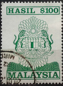 Malaysia-Used-Revenue-Stamps-100-Stamp-Old-Design-Big-Size