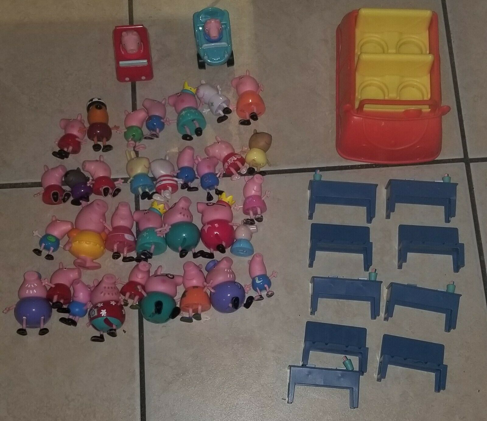 Huge Peppa Pig Family & Friends Lot Figures, Accessories, Furniture, Classroom