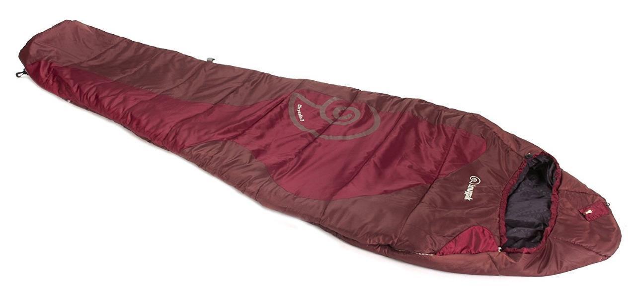 Snugpak Chrysalis 2 Sleeping Bag Chestnut Red 86  Mummy Style w  LED 97702