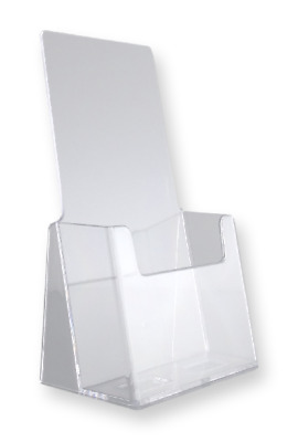 Four Tier Slant Back Tri Fold Brochure Holder Counter Top Wall Mount Lot of 12