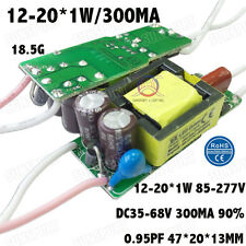 5PCS 85-277V LED Driver 12-20x1W 300mA DC35-68V PFC Constant Current 12-20PCS 1W