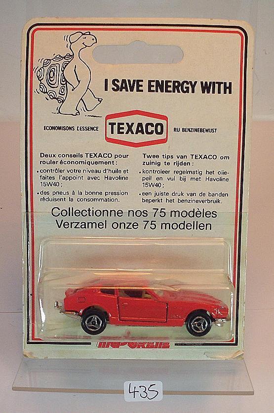 Majorette 1 60 Nº 229 Datsun 260z ROUGE TEXACO BLISTER EMBALLAGE NEUF dans sa boîte  435