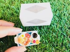 Green Tea Set Dollhouse Miniatures Ceramic Supply Food