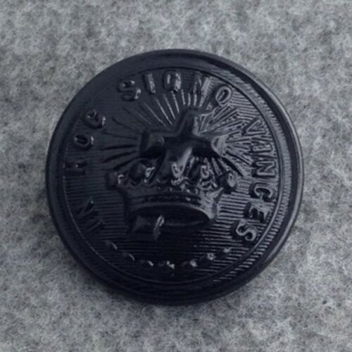 KTB-Blg Large Black Knights Templar Uniform Button