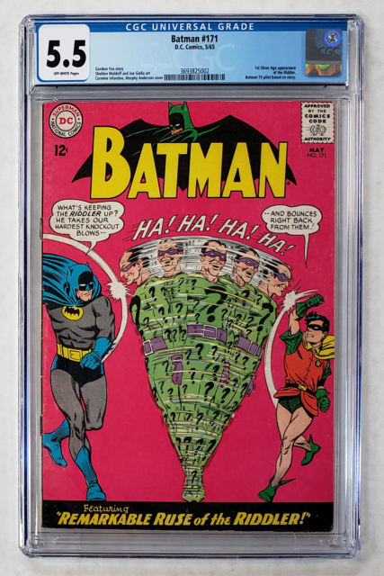 BATMAN #171 CGC 5.5 1st SILVER AGE APPEARANCE OF RIDDLER 1965