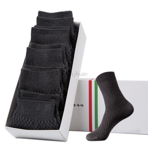 5 pairs Mens Bamboo Fiber Breatheable Socks Casual Anti-Bacterial Deodorant Sock
