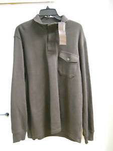 Sweater Mens Chocolate New Principles Perry Nwt Xl 2 Ellis Button Dark 1 7ExqzB