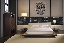 SUGAR SKULL 3 VINYL WALL DECAL GRAPHIC HOME LETTERING BEDROOM STICKY STICKER ART