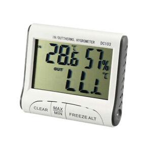Thermometer Humidity Temperature Hygrometer Digital LCD Display Meter