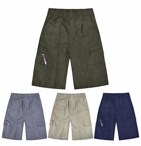 Boys-Shorts-Chino-Summer-Knee-Length-Bottoms-Kids-New-Cargo-Shorts-Age-3-14-Yr