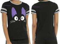 Kiki's Delivery Service jiji Juniors Fitted Ringer Tee Shirt Studio Ghibli