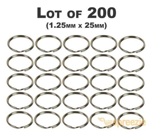 """1.25mm x 25mm Wholesale Lots Split Key Rings 1/"""" Keychain Key Holder Locksmith"""