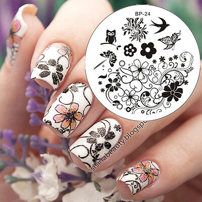 Nagel Schablone Nail Art Stamp Stamping Template Plates BORN PRETTY 24