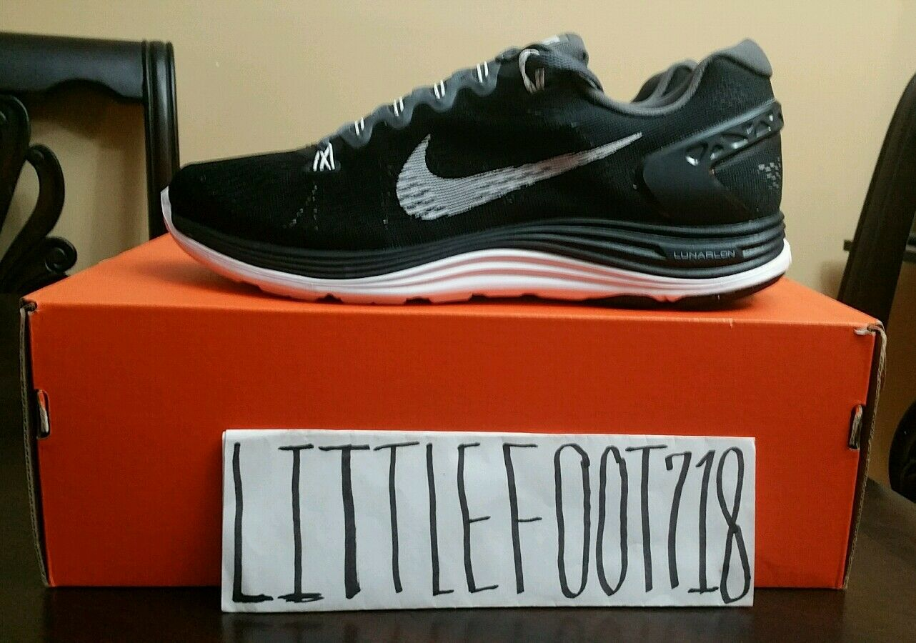 Nike Lunarglide +5 Mens Size Running Shoes Black White Sneakers 599160 010