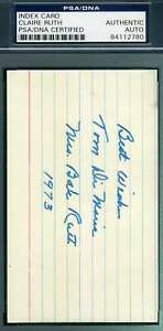 Mrs-Babe-Ruth-PSA-DNA-Coa-Autograph-Hand-Signed-3x5-Index-Card