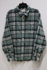 Vintage-J-Crew-long-sleeve-button-up-flannel-shirt-plaid-cotton-men-039-s-size-XL