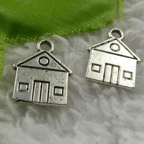 Free Ship 320 pcs tibet silver house charms 16x13mm B4065