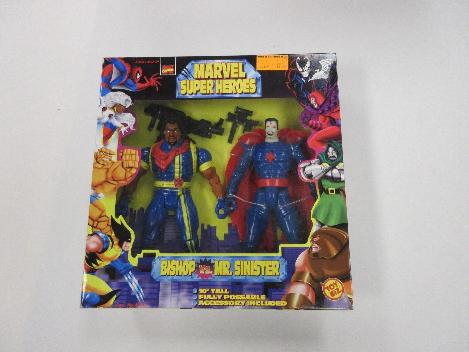 1997 TOY BIZ MARVEL SUPER HEROES BISHOP VS MR SINISTER 10 INCH FIGURE SET SEALED