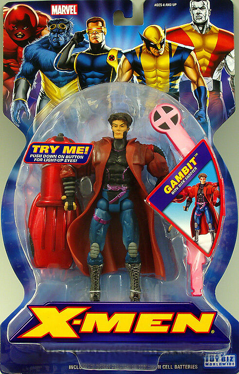 NEW X-Uomo CLASSICS SERIES 1 GAMBIT FIGURE TOY BIZ MARVEL 2006   RARE