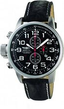 Invicta Men's I-Force Lefty Chrono 100m Stainless Steel Black Leather Watch 2770