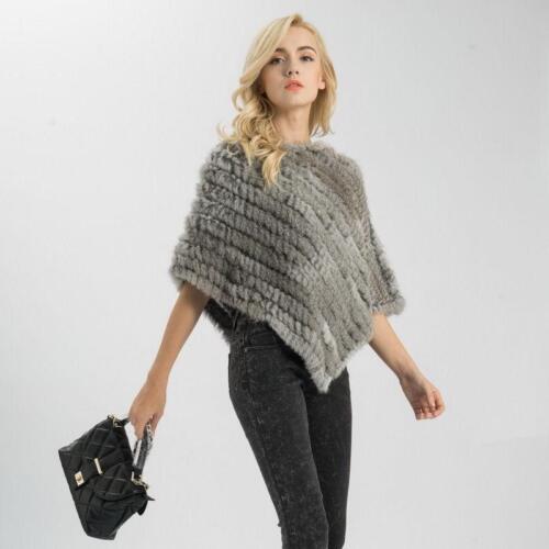 Strikket Thicken Fur Real D747 Stilfuld Luksus Coat Cape Warm Kvinder Wraps Sjal qO1xTWU7w