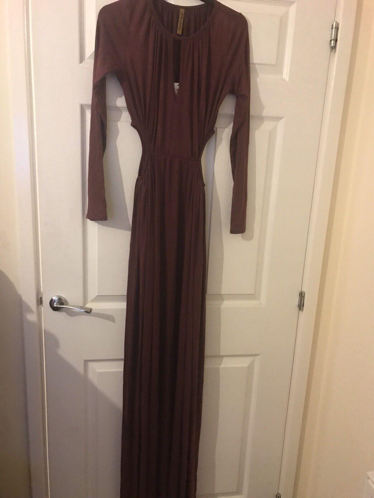 Rahel Pally Pinot Jazz Dress, Long Sleeve, Front neckline keyhole, Size M