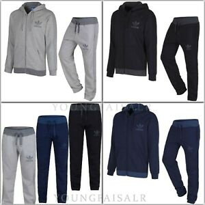 Details about ADIDAS MENS ORIGINAL SPO TREFOIL FLEECE TRACKSUIT ZIPPER HOODIE JOGGERS GYM
