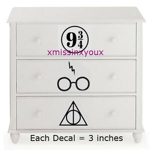 Image Is Loading Harry Potter Nursery Dresser Drawer Decal Set Vinyl