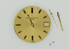 ETERNA-MATIC 3000 Automatic 1504K Golden Watch Dial Diameter 28.5 mm (ZB234)