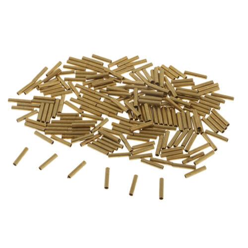 200pcs 1,0 mm bis 2,5 mm Einzelhülsen Crimp Ärmel Kupferrohr Für Mono Uund
