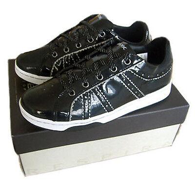 GEOX Tmania Schuhe Sneaker schwarz Gr. 34 39 NEU Leder Turnschuhe | eBay
