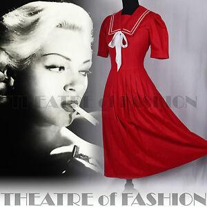 VINTAGE-LAURA-ASHLEY-SAILOR-DRESS-WEDDING-20s-FLAPPER-40s-50s-30s-EDWARDIAN-VAMP