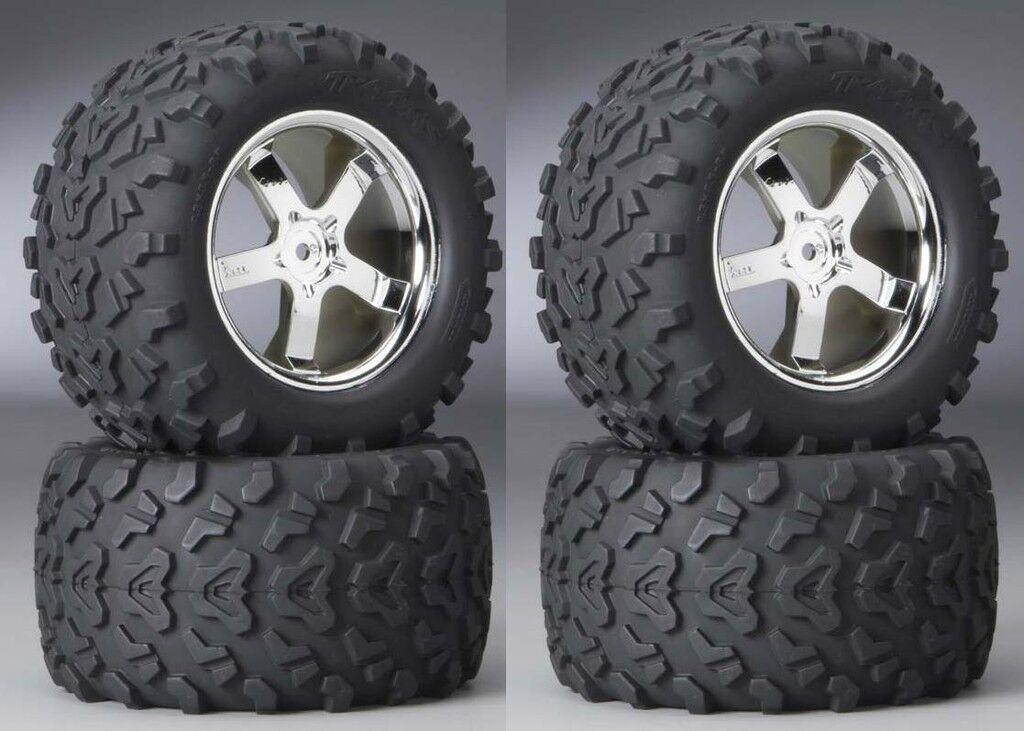 Traxxas T-Maxx   Summit 3.8   Tires On Hurricane Chrome ruedas (2 Pairs) 4973R  punti vendita