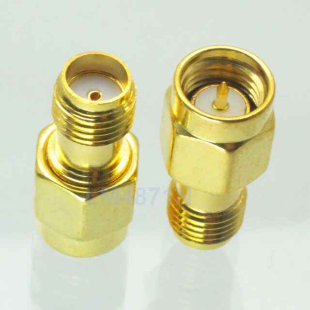 1pce Adapter SMA male plug to SMA female jack RF connector straight gold plating