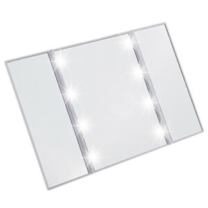 Lighted-Makeup-Mirror-With-Light-Vanity-Desktop-Standing-LED-Compact-Mirror