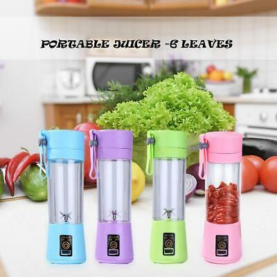 Portable Mini Blender Juicer Cup Fruit Mixing Machine USB Rechargeable 380ML | eBay