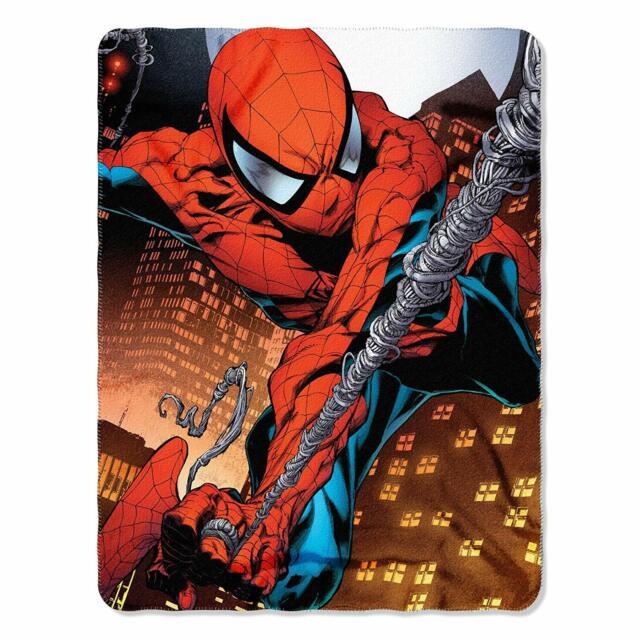 "SUPERHEROS SPIDERMAN BOY SOFT /& WARM 45/""X60/"" FLEECE BLANKET100/% ORIGINAL"