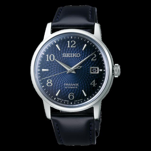Seiko Presage Cocktail Manhattan Blue Dial Automatic 38.5 mm SS Watch - SRPE43J1