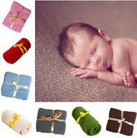 Newborn Baby Boy Girls Photography Props Knitted Blanket Background Backdrop Rug