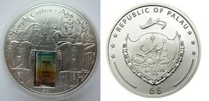 2011-Palau-Large-Proof-Color-Silver-5-Temple-Gates-ABU-SIMBEL