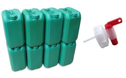Hahn 3 x 22 L Kanister gelb Kanister Kunststoffkanister gebraucht Tank