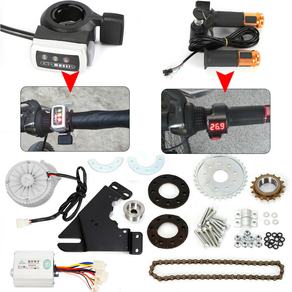 450W 36V Electric Bike Left Side Drive Motor  Kit Mountain Bicycle Conversion Kit  promotions