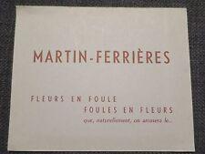 MARTIN FERRIERES PEINTRE ancienne carte d'invitation vernissage Galerie Allard