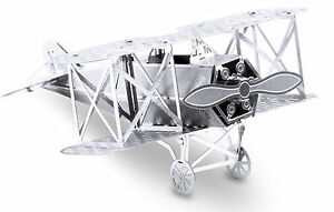Fokker-D-Vii-13-Pieces-3D-Metal-Kit-Silver-Edition-Metal-earth-1005