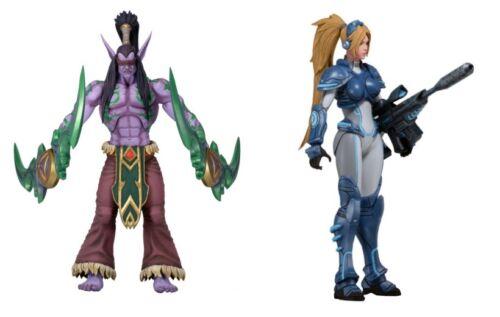 Nova Terra Heroes of Storm 18 cm Figurines NECA Blizzard WoW Starcraft neuf dans sa boîte Illidan