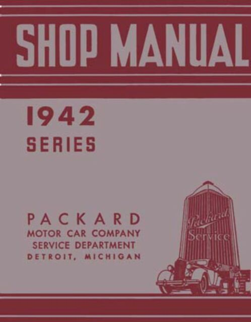 1942 Packard Shop Service Repair Manual