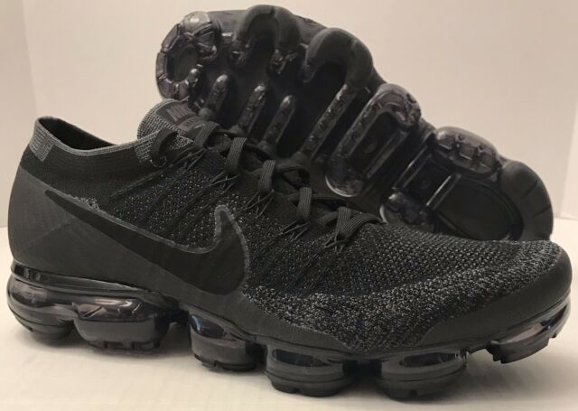 3a15c0d1de66 Nike Air Vapormax Flyknit Triple Black Anthracite Dark GRY 849558 ...