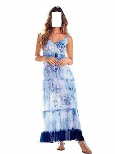 Beach Dress Top Stampato Blu 1113236166 Summer 48 46 Brand bianco Gr RqAwOY6cq