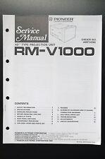 PIONEER RM-V1000 Original Service-Manual/Anleitung/Schaltplan! O1
