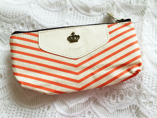 Lovely fab pen brush receipts case orange coin purse crown cute kawaii